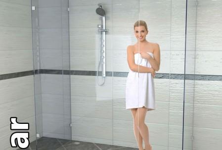 Duschwand aus Glas